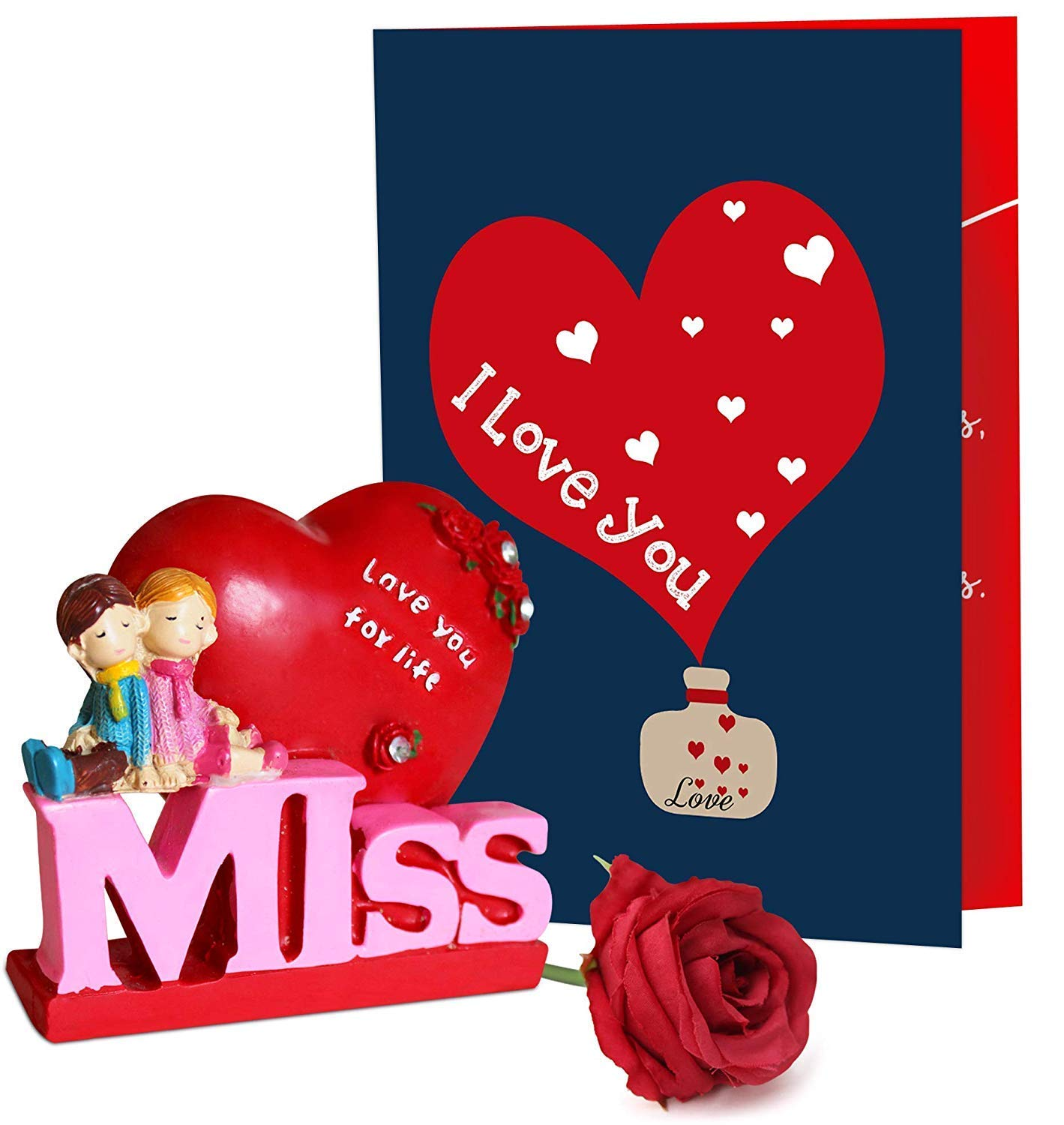 Buy Tied Ribbons Valentine Day Gift For Husband Wife Girlfriend Boyfriend Girls Boys Valentines Special Couple Showpiece On Bench Online At Low Prices In India Amazon In
