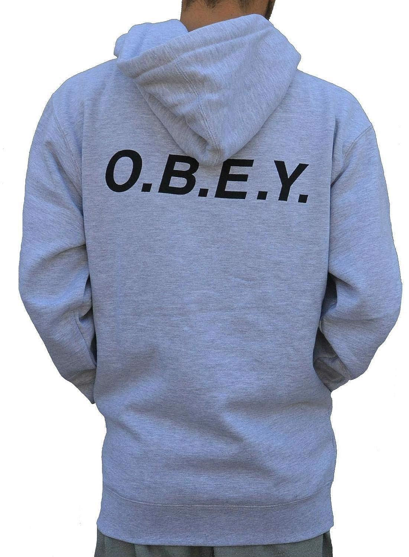 Obey O.B.E.Y. Chaqueta Zip Man Grey: Amazon.es: Ropa y ...