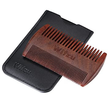 Wifzu Wooden Beard Combs Anti Static Pocket Combs For Mustaches Dual Action Little Wood Combs With
