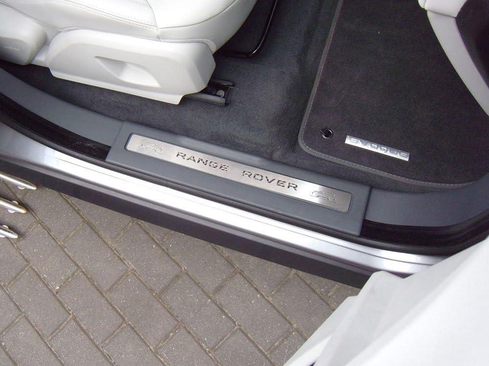 Einstiegsleisten Stahlabdeckung f/ür 2011-2018 Evoque 2 St/ück Edelstahl Leisten Zierleisten mit Carbonschicht Ladekantenschutz Komplett Fahrzeug mit 2 und 3 T/üren