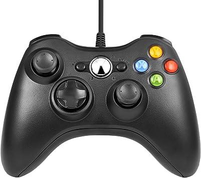 Xbox 360 Game Controller USB Wired Gamepad Game Joystick Joypad for Microsoft & Windows PC (Black): Amazon.es: Electrónica