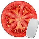 Tomato Slice Mousepad, Tropical Mouse Pad, Fruit Mousepad, Vegan Mouse Pad, Cute Gift, Funny Gift, Food Mousepad