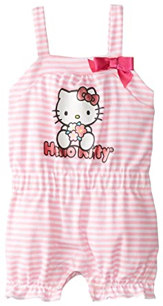 eae1c288b915 Amazon.com  Hello Kitty Baby Girls  Romper  Infant And Toddler Rompers   Clothing