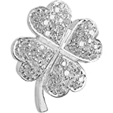 Vinani Damen-Anhänger Kleeblatt Zirkonia Steine weiß Sterling Silber 925 AKG-EZ