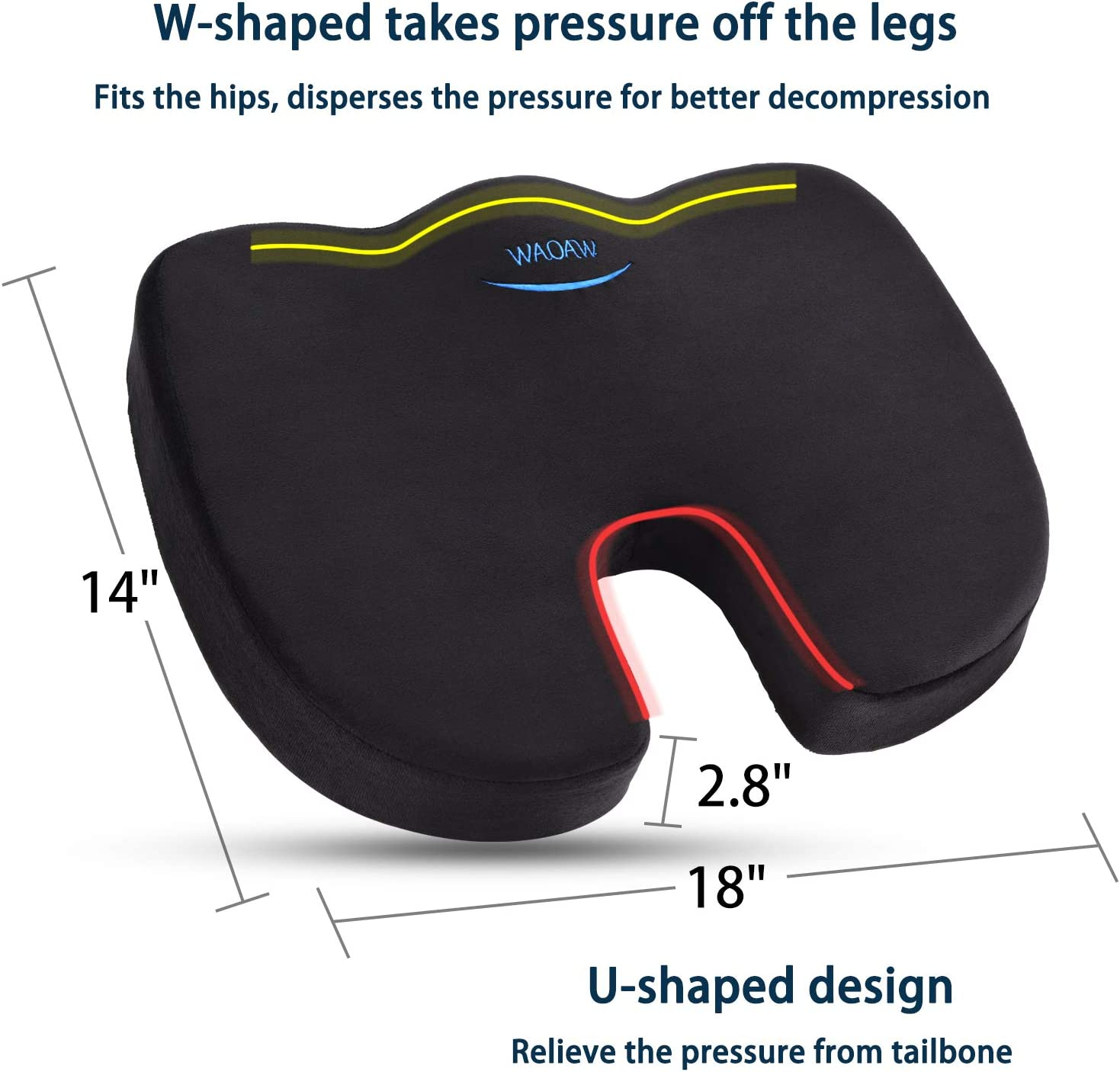 71Fr0Vt2jKL. AC SL1500 - What Is The Best Car Seat Cushion For Leg Pain? - ChairPicks