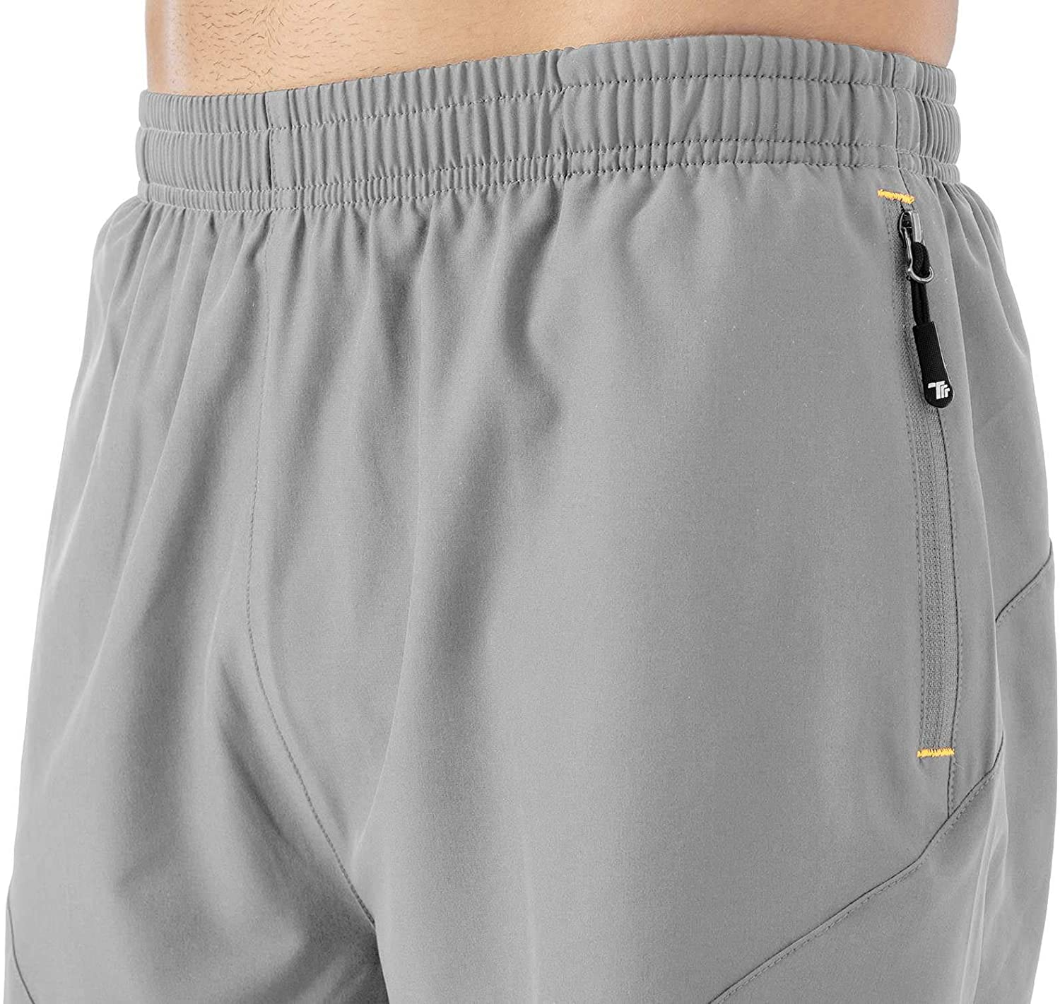 Rdruko Mens 2 in 1 Workout Running Shorts Quick Dry Lightweight Gym Shorts with Mesh Liner