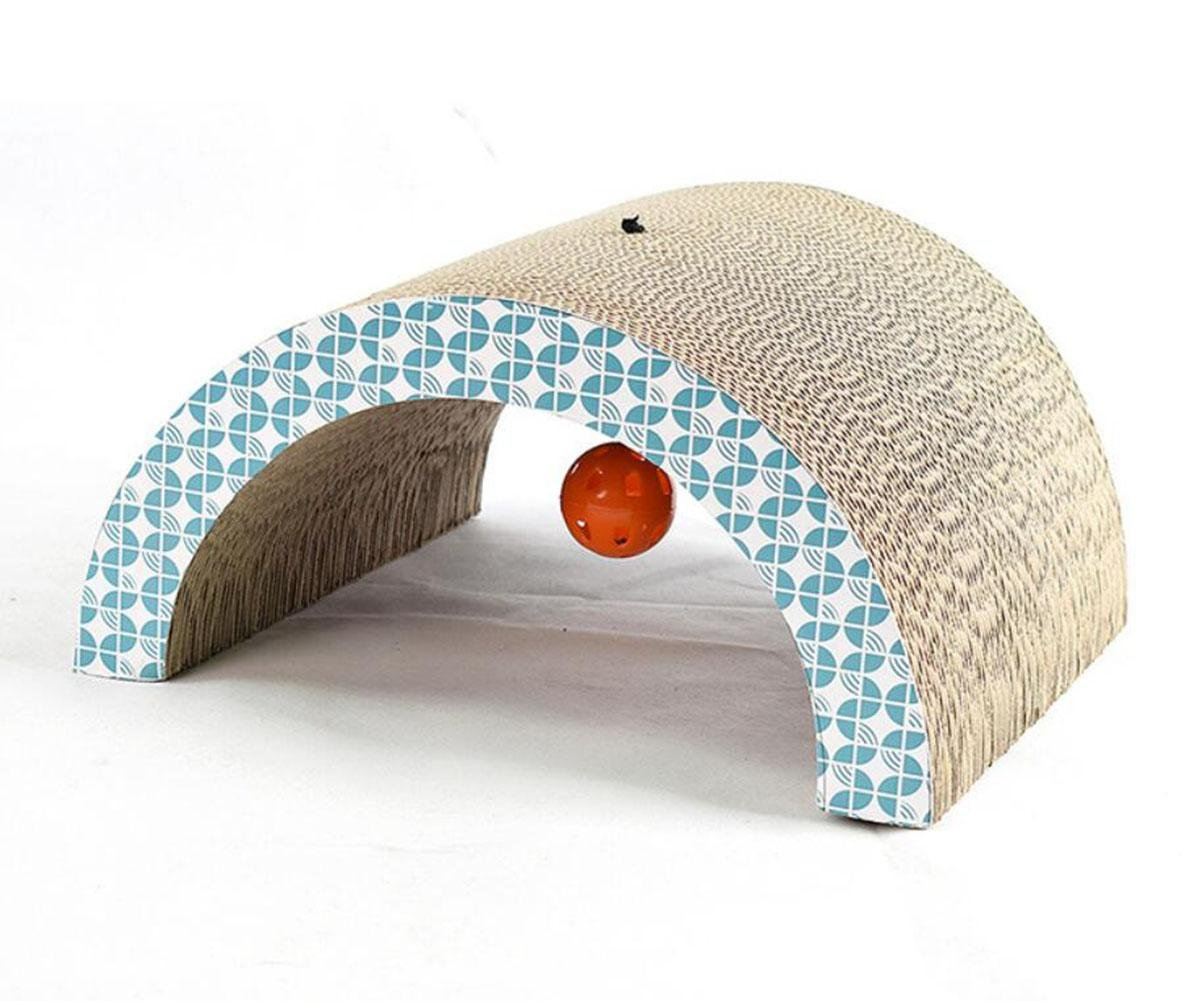 High Quality Corrugated Paper Arch Bridge Shape Cat Scratch Board Funny Cat Toys Grinding Claw