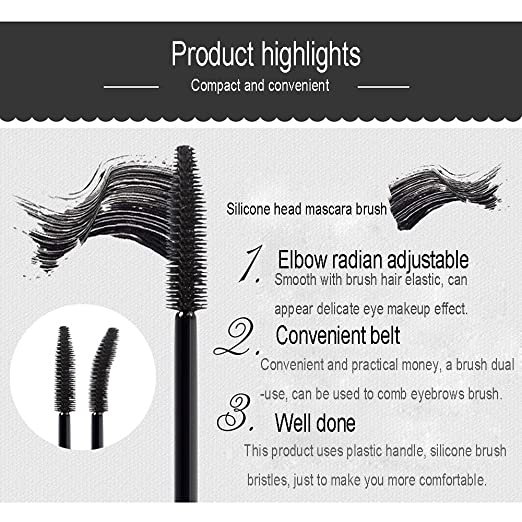 Amazon.com: Adecco LLC 5 Styles Disposable Silicone Eyelashes Makeup Brushes Mascara Wands Applicator Makeup Tool (5 style color 1): Beauty