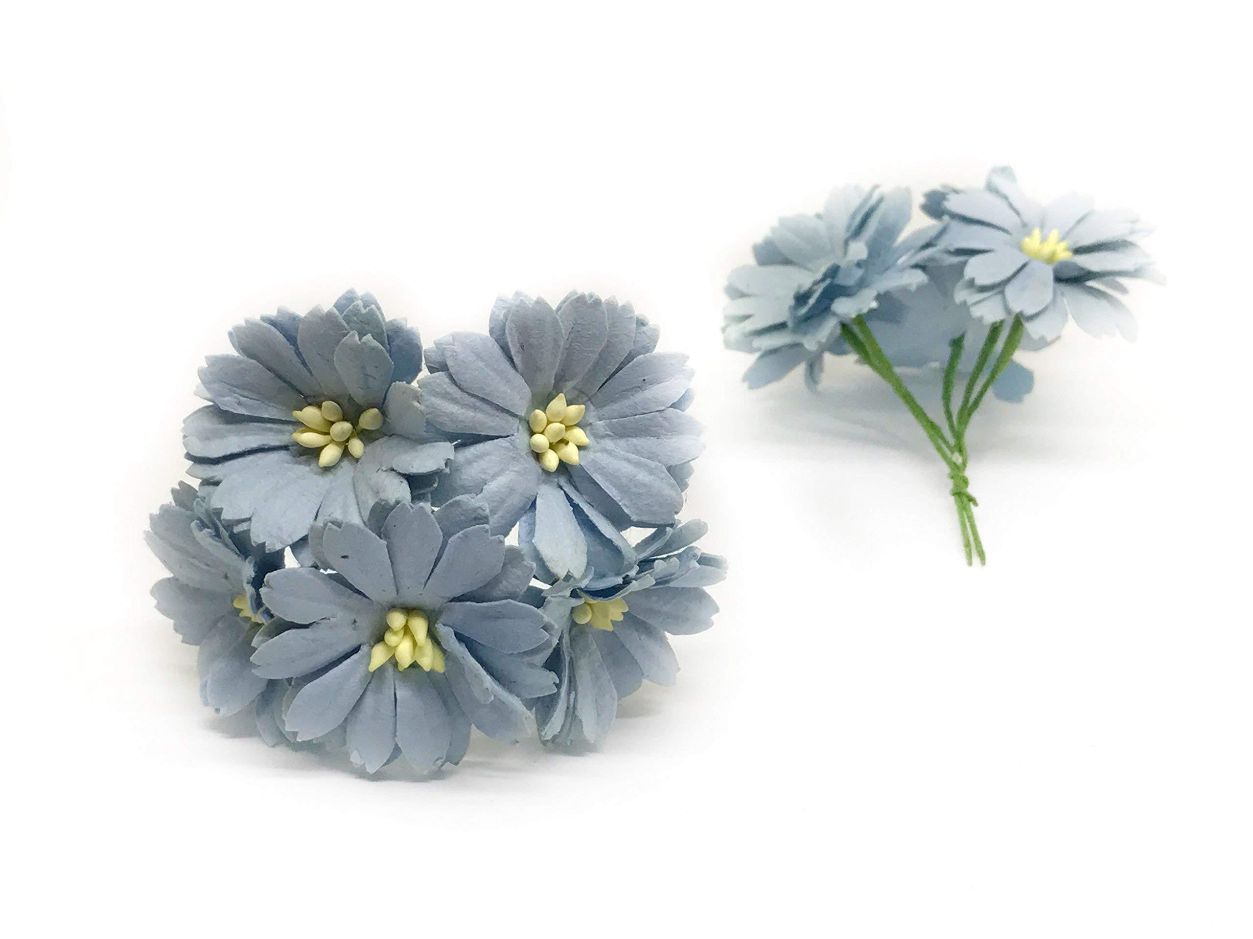 15-Blue-Paper-Daisies-Mulberry-Paper-Flowers-Miniature-Flowers-Mulberry-Paper-Daisy-Paper-Flower-Wedding-Favor-Decor-Artificial-Flowers-25-Pieces