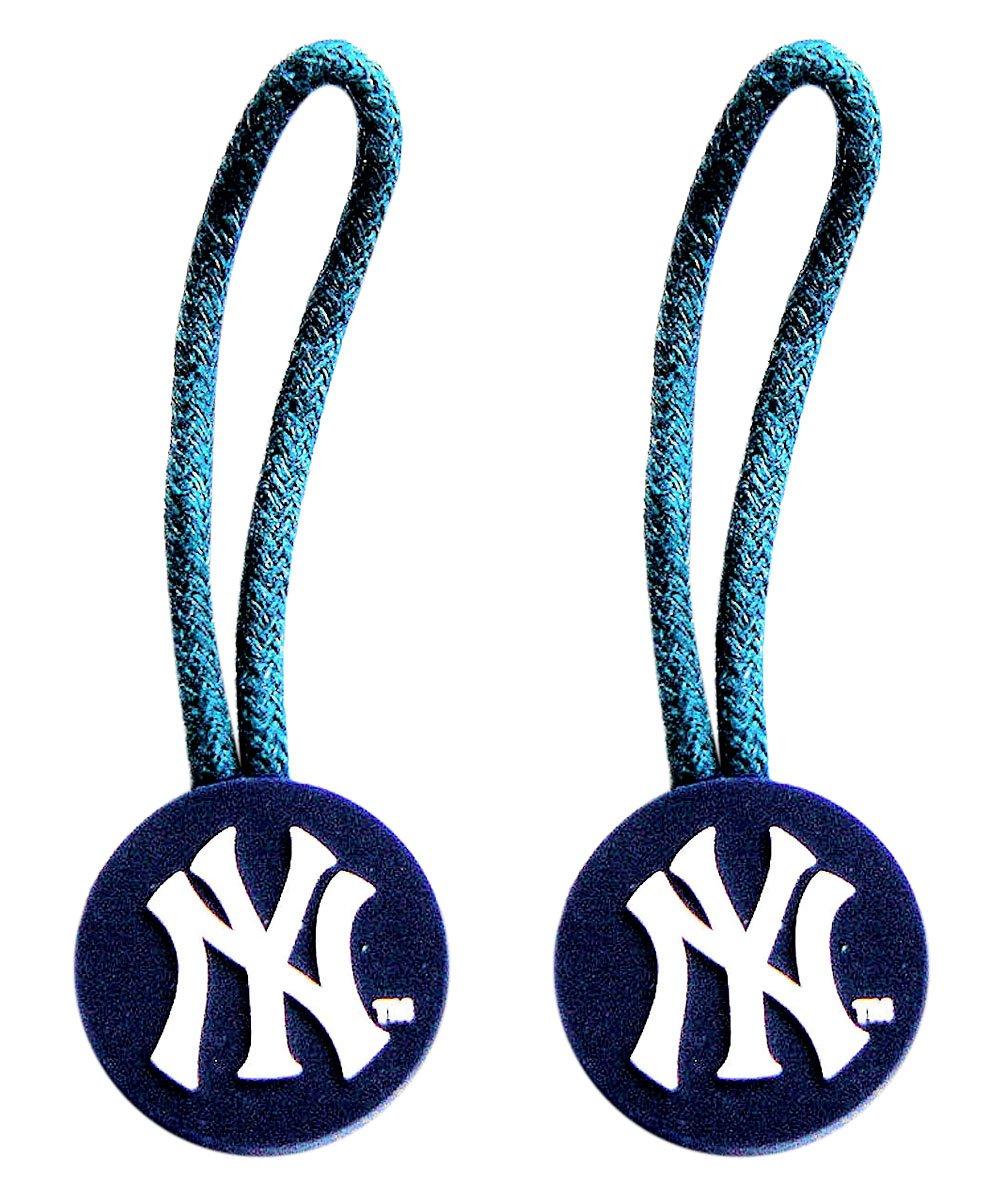 New York Yankees Zipper Pull Charm Tag Set Luggage Pet ID MLB B003O8FR80