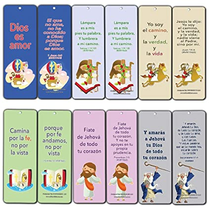 Spanish Christian Bible Verses Bookmarks Cards
