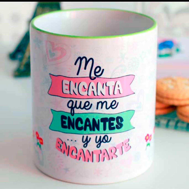 Taza amor me encantas!!: Amazon.es: Handmade