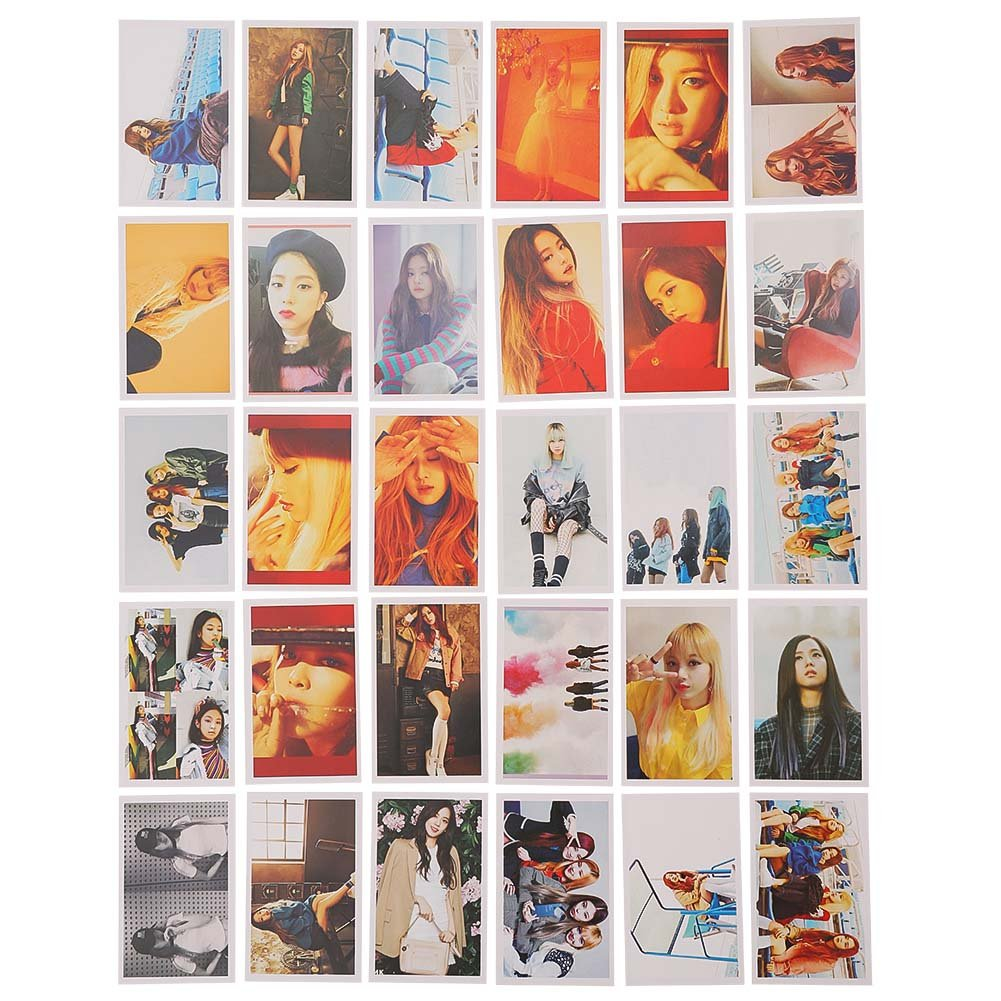 ALTcompluser 30 Pcs Blackpink Lomo Photocard Photo Card Set Lomo Cards//Cards Gift for Fans As If Its Your Last