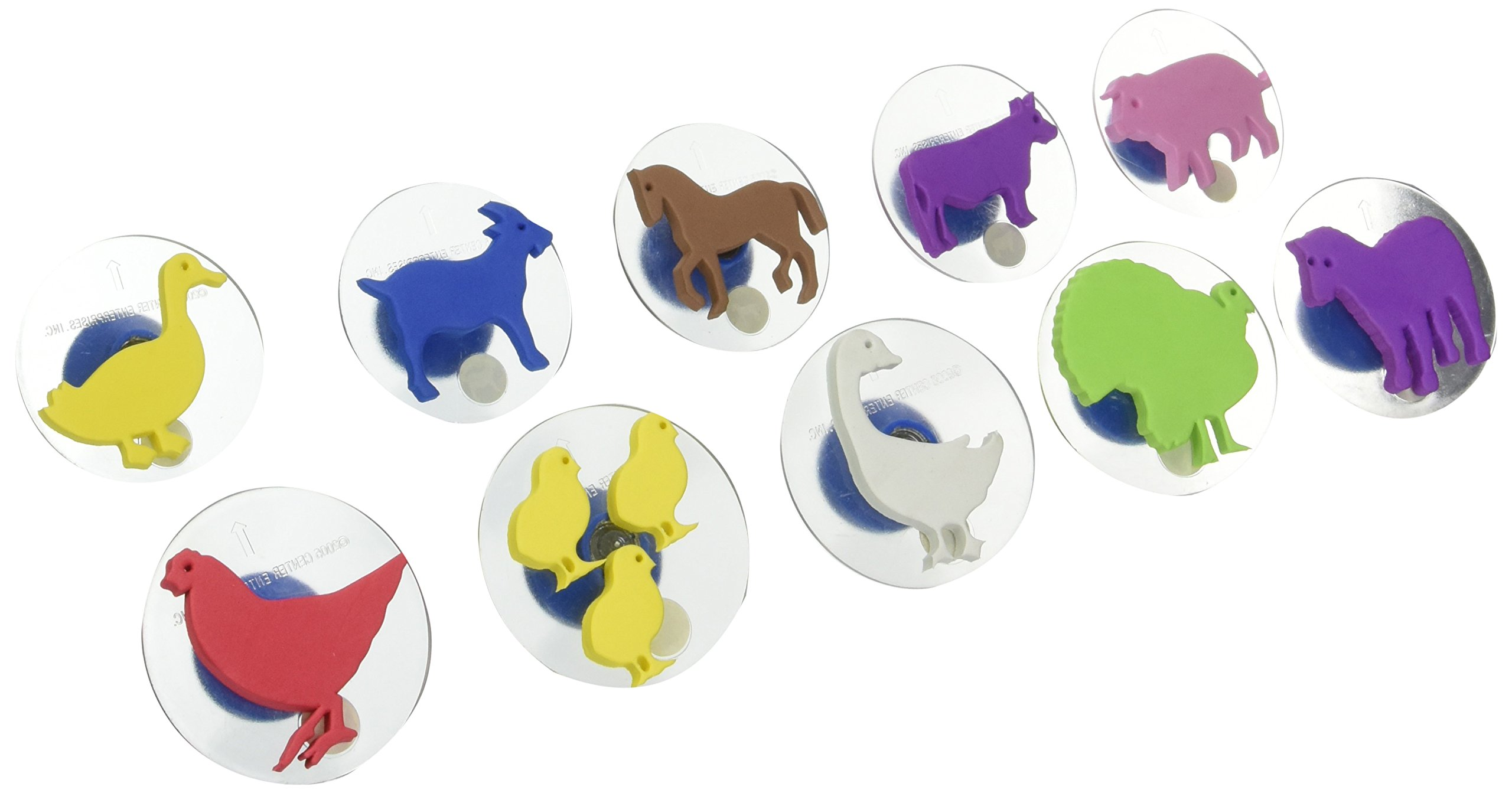 Center Enterprise CE6739 READY2LEARN Giant Farm Animals Stamps (Pack of 10)