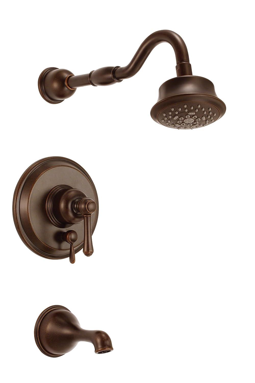 Danze豊かさタブとシャワー蛇口 D502257BRT 1 B00CB2I2SW  Tumbled Bronze