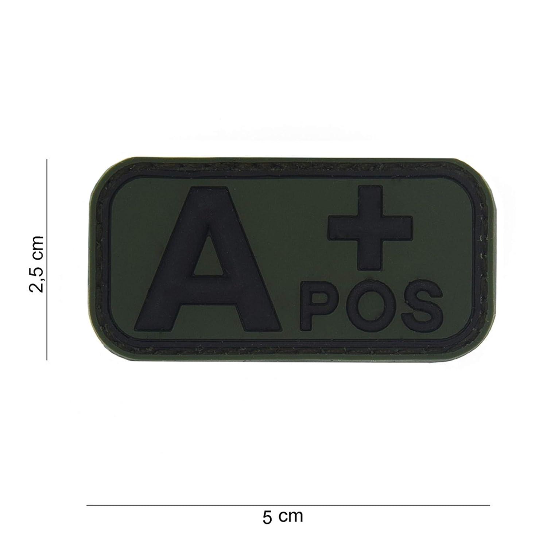 Tactical Attack Blood Type A Positive gr/ün Softair Sniper PVC Patch Logo Klett inkl gegenseite zum aufn/ähen Paintball Airsoft Abzeichen Fun Outdoor Freizeit