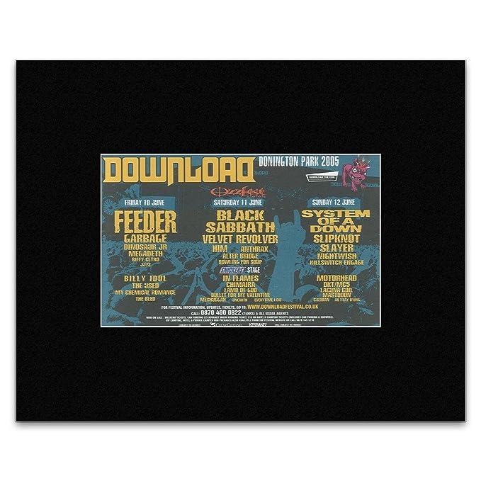 Black sabbath original ozzfest/download festival 2005 poster +.