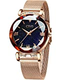 CIVO Relojes Mujer Oro Rosa Reloj de Pulsera Mujer Impermeable de Malla de Acero Inoxidable Relojes para Mujer Vestir…