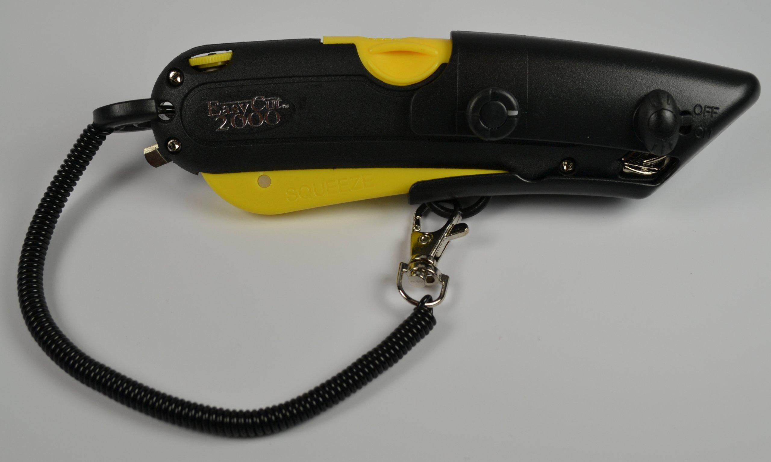 25 Pcs EZ Cut Easycut Safety Carton Box Cutter, Yellow