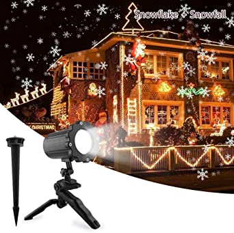 Luces de Proyector Nieve, UNIFUN Impermeable Lámpara de Proyección ...