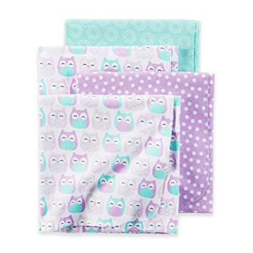 4a4de0249d Image Unavailable. Image not available for. Color  Carter s Owl Baby  Receiving Blankets 4 Pack