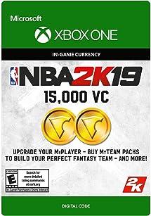Amazon com: NBA 2K19: 15000 VC Pack - Xbox One [Digital Code]: Video