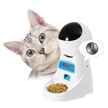 Edited Forro automática gato, automático dispensador de alimento para gato y perro, dispensador de