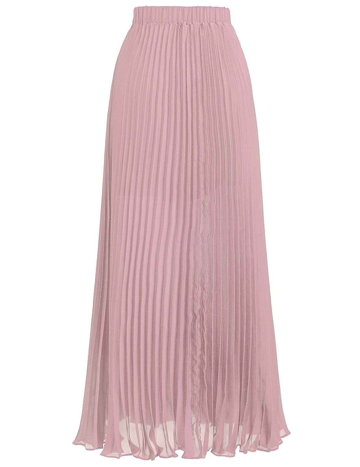 885186985 Kate Kasin Women Ankle Length Pink Pleated Skirts for Bridal Shower Size S  KK614-2 at Amazon Women's Clothing store: