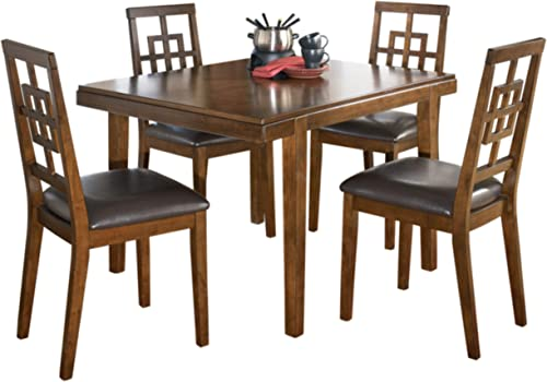Signature Design by Ashley – Cimeran Dining Room Table and Chair Set – Contemporary Style – Set of 5 – Medium Brown