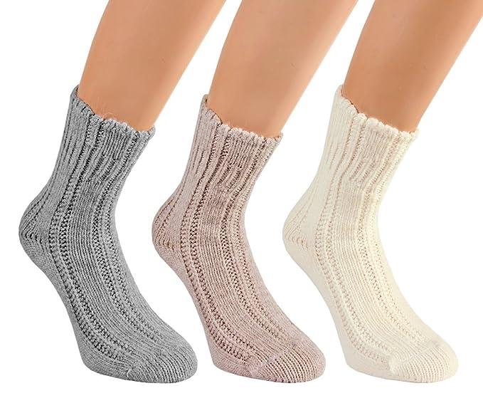 Vita Sox Mujer Calcetines Lana cama Calcetines Calcetines para mujer Manta Calcetines Calcetines de einfarbig suave