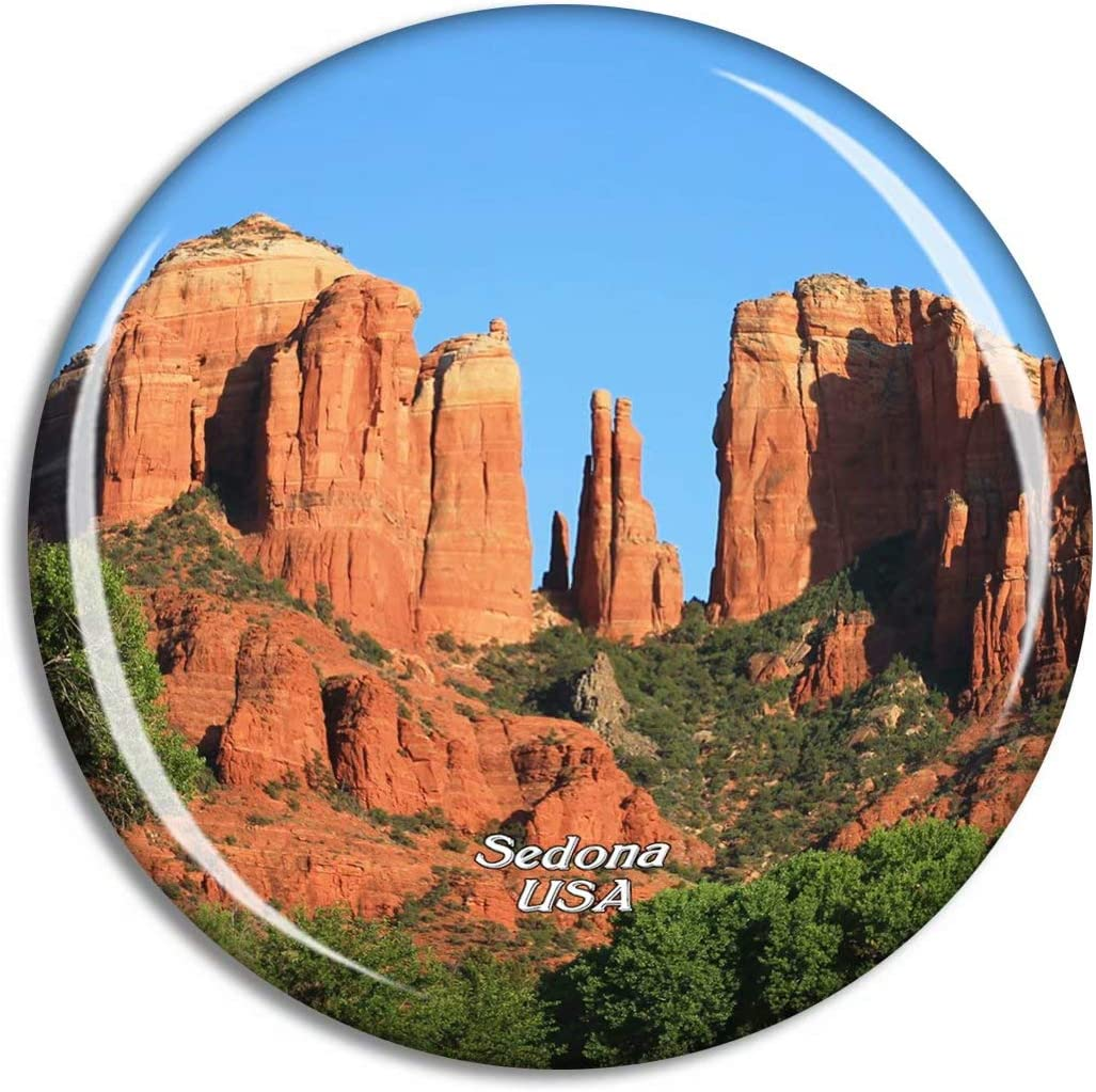Weekino USA America Sedona Canyon Arizona Fridge Magnet Travel Souvenir City Collection 3D Crystal Glass Gift Strong Refrigerator Sticker