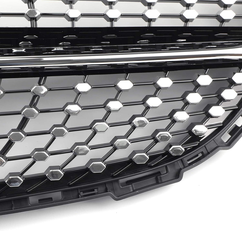 Artudatech New Front Diamond Grill Grille For Benz W205 C Class C250 C300 C400 2015-2018
