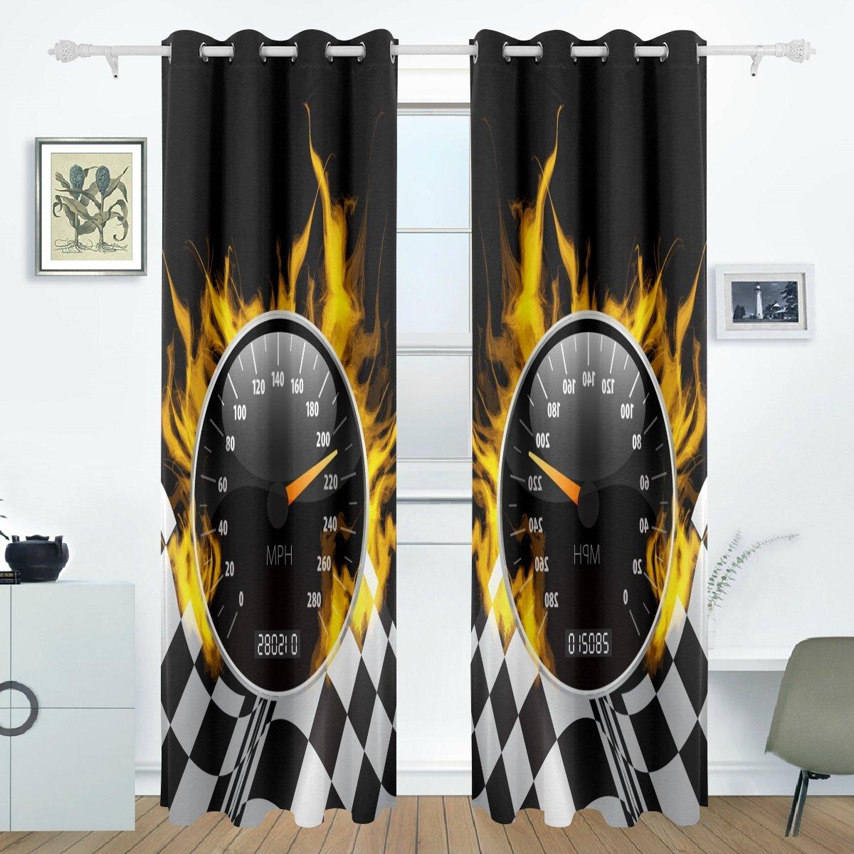amazon com imobaby racing curtains drapes panels darkening blackout rh amazon com