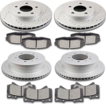 Front and Rear Brake Discs Ceramic Pads For 2010-2011 Ford F-150 Premium 8pcs