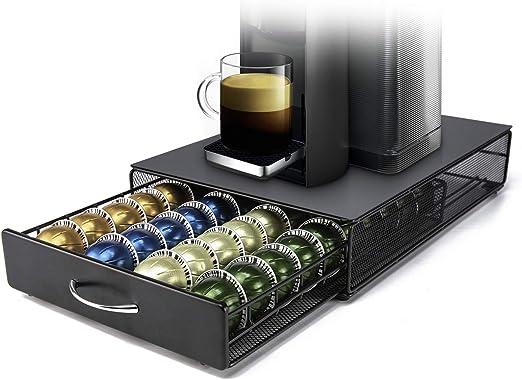 DecoBros CRYSTAL GLASS NESPRESSO vertuoline Tiroir De Rangement Support Capsule Coffee