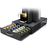 Vertuo Capsule Holder HiveNets Coffee Machine Stand Metal Storage Drawer Dispenser Compatible for Nespresso Vertuoline…