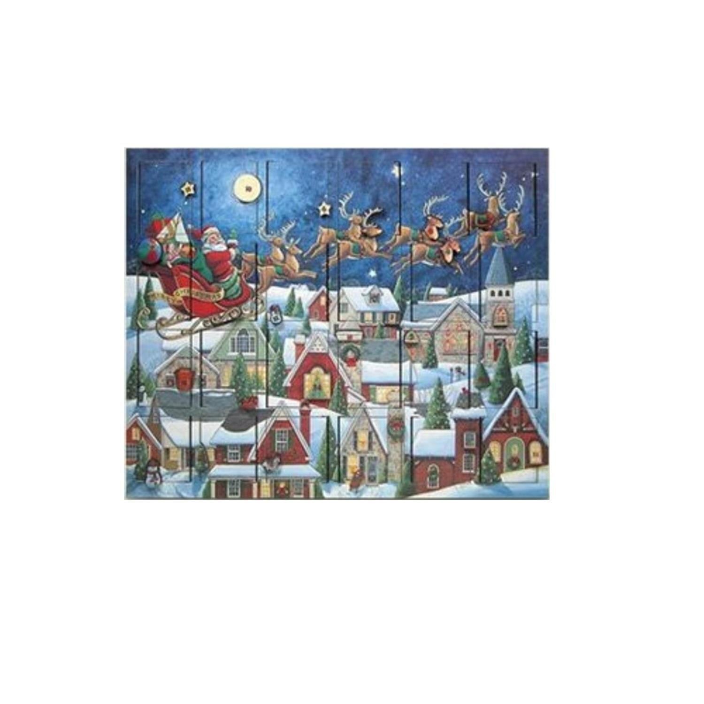 Byers' Choice Santa's Sleigh Advent Calendar #AC07