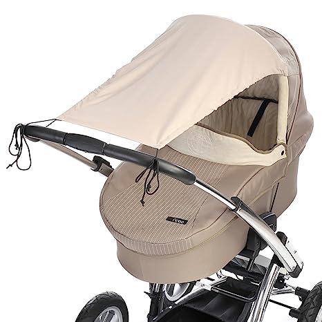 DIAGO - Toldo para carrito de bebé (microfibra), color beige