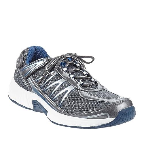 fe9a3057c08 Orthofeet Sprint Comfort Orthopedic Plantar Fasciitis Diabetic Mens Sneakers  Gray Synthetic 12 M US