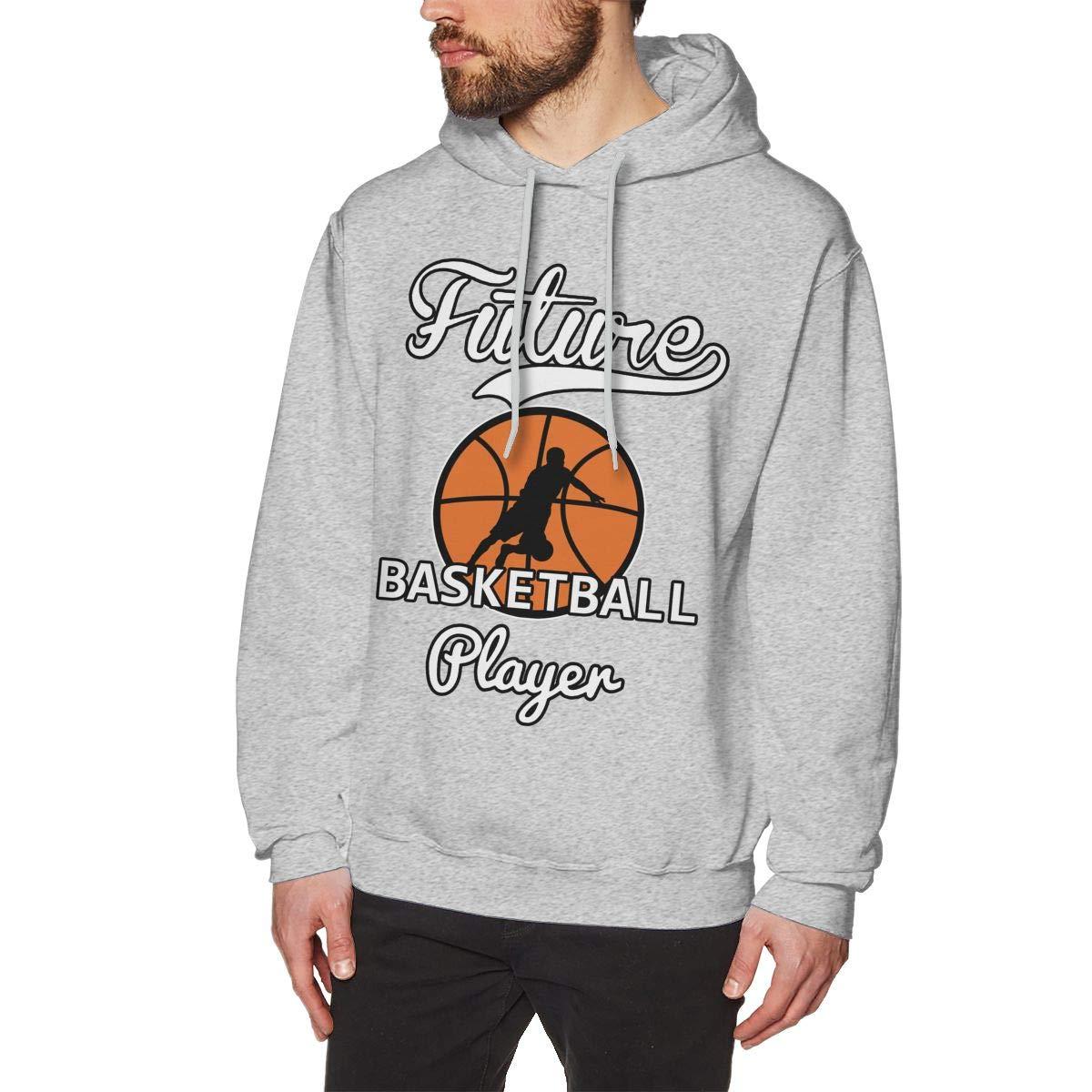 JIAU HUA Future Basketball Player Mens Hooded Sweatshirt Leisure 100/% Cotton Pullover Hoodie