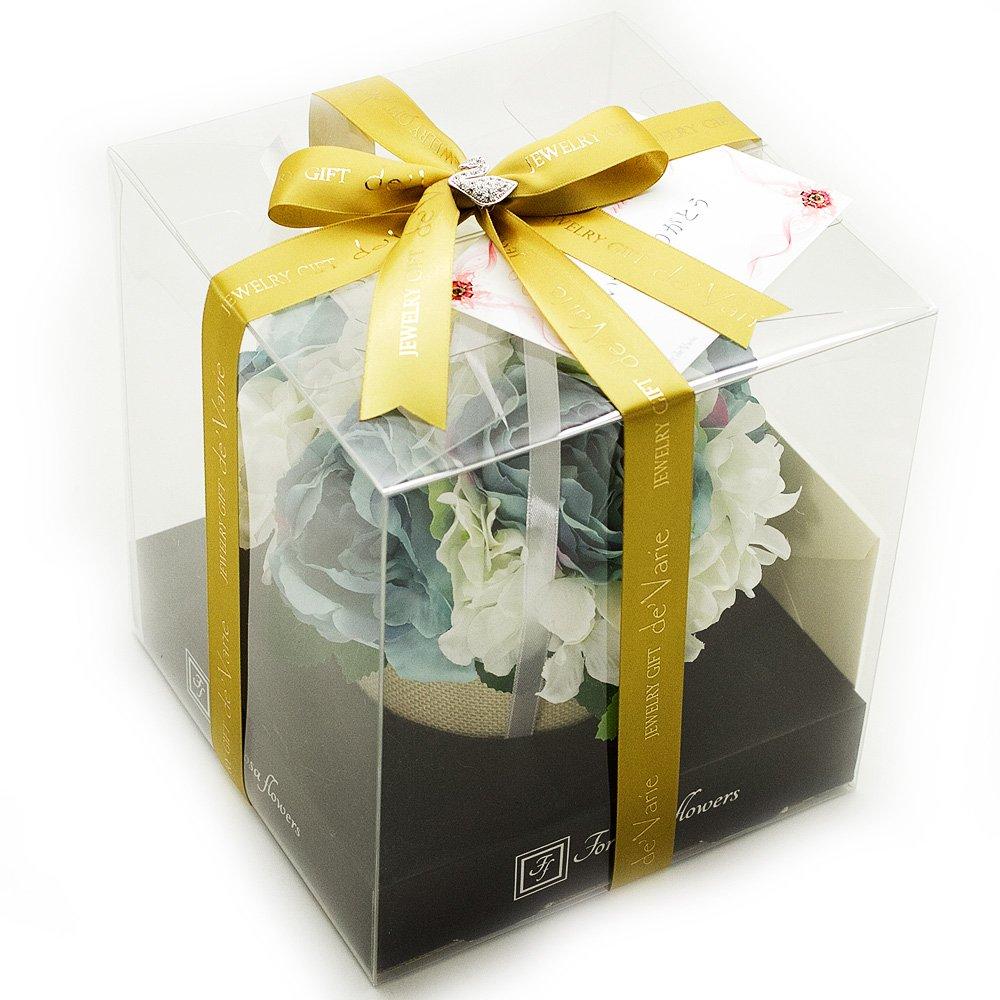 6月 誕生日プレゼント 花 女性 母親 人気 バラ 人感センサー ラッピング付 お見舞い 贈り物 hb-b B06XHV48C3 ブルー ブルー