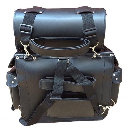 Bolsa para motocicleta con portaherramientas - Equipaje para viajes en moto - Cuero: Amazon.es: Deportes y aire libre