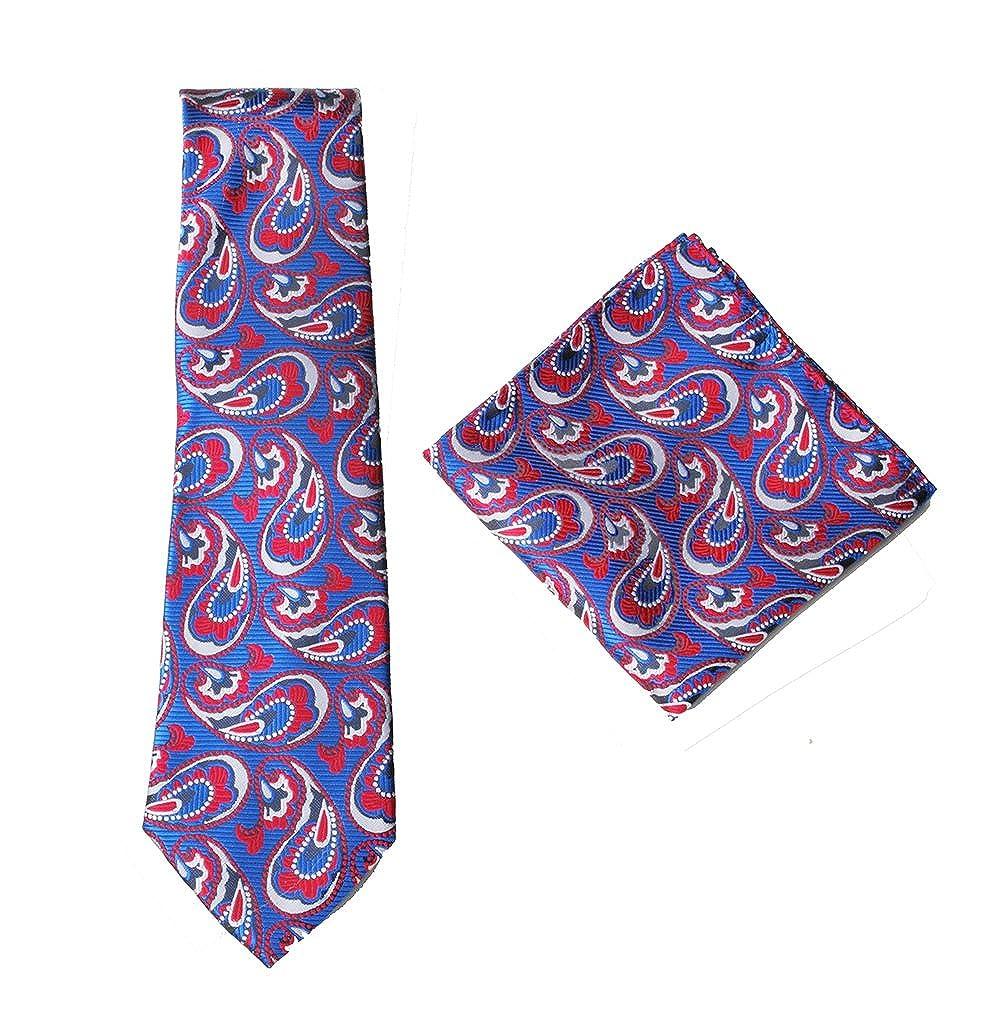 Set cravatta e fazzoletto da taschino quadrato in 100/% seta per matrimonio e occasioni formali