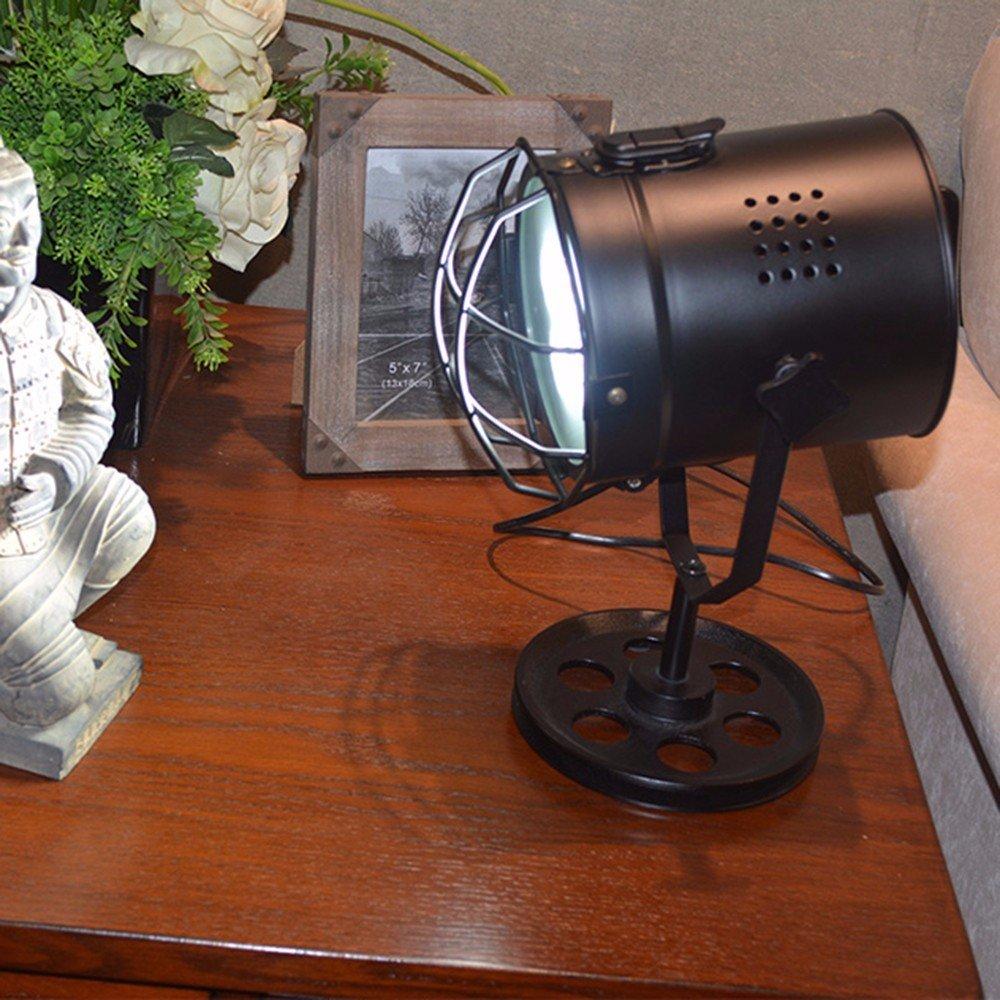 CJSHV-lampada da tavolo Nord Europea E Americana Stile Retrò Lampada Da Tavolo La Sala Studio Ferro Searchlight Decorativi Searchlight Lampada Da Tavolo,Regolatore Del Bulbo