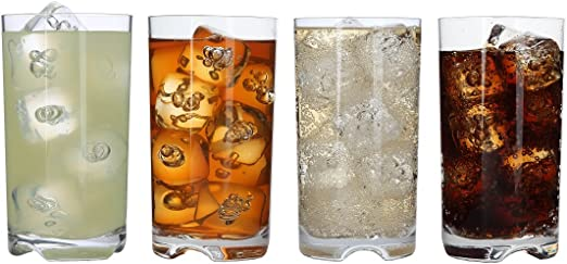 Amazon Com Lily S Home Unbreakable Highball Tumblers Made Of Shatterproof Tritan Plastic And Ideal For Indoor And Outdoor Use Reusable 14oz Each Set Of 4 Tumblers Water Glasses