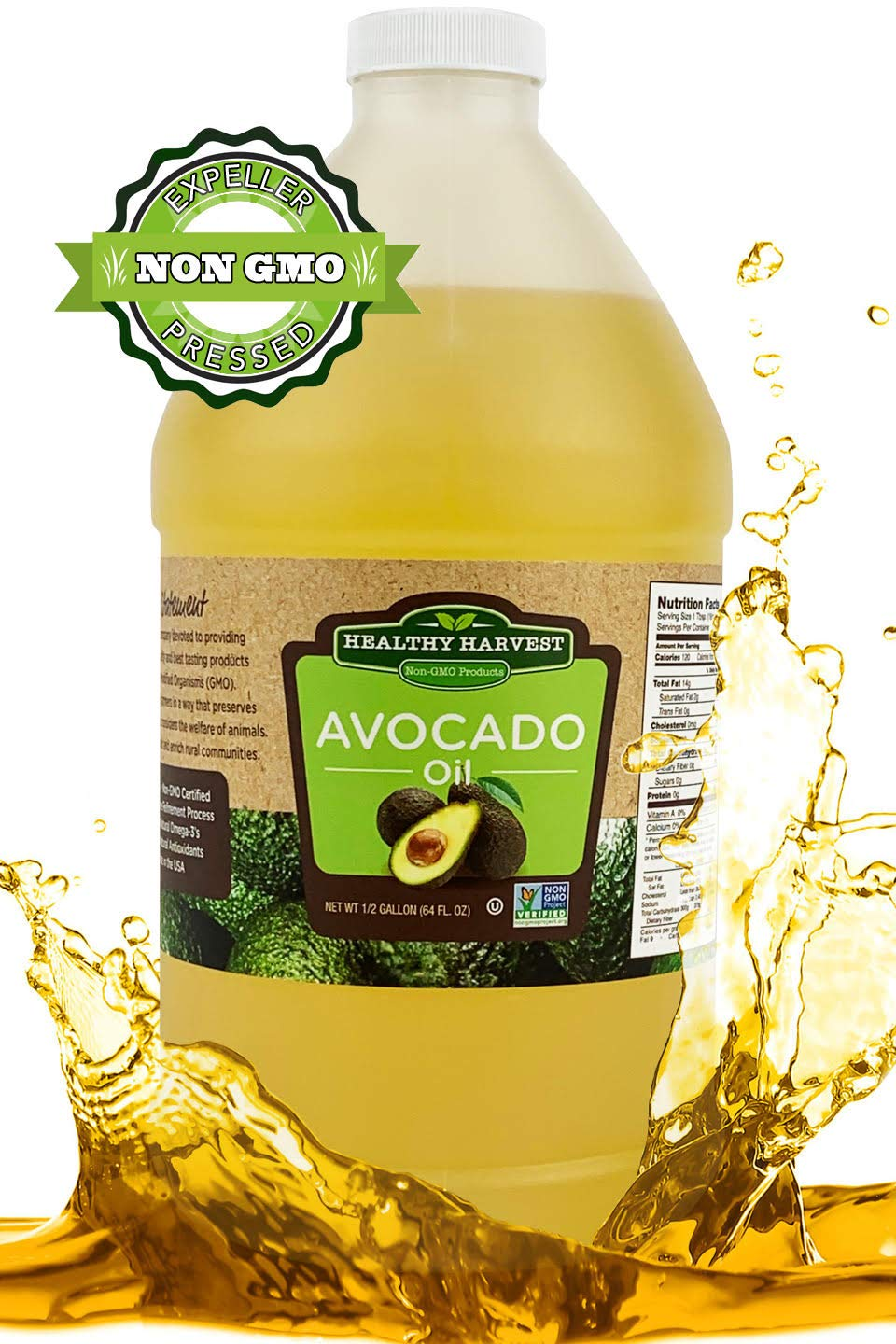 GMO Avocado Oil - Great for Sauces And , Cooking, Frying and More - Nutritious And Rich With Antioxidants