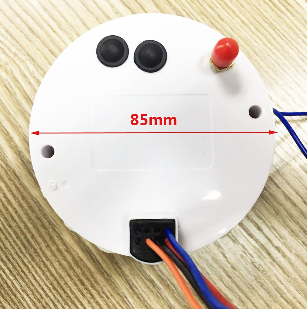 Samdo 85mm 7 Backlight Waterproof GPS Speedometer Gauges 0-35knots GPS Speed Odometers Speed Indicators 0-40MPH for Marine Boat