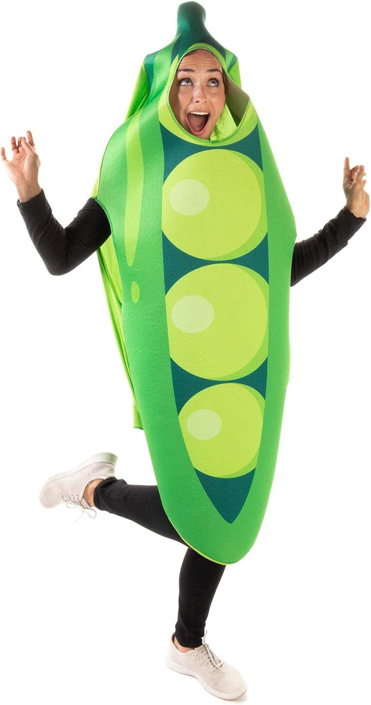Pea Pod Halloween Costume - Cute Vegetable Funny Food Suits Adult Men & Women