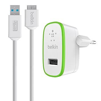 Belkin F8M865VF03-WHT - Cargador de pared, USB 3.0, 2.1 A