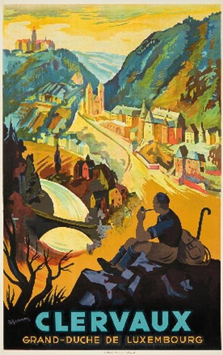Amazon.com: Clervaux Vintage Poster (artist: Gerson) Luxembourg c ...
